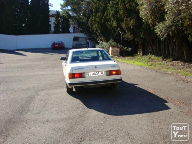 Photo Maserati Biturbo blanc 422 de 1988 image 3/4