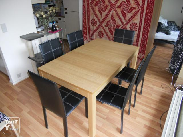 table salle a manger avec rallonge ikea valdiz. Black Bedroom Furniture Sets. Home Design Ideas