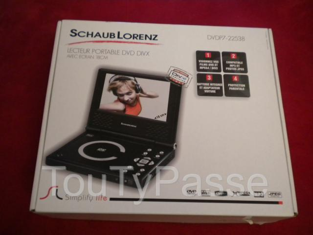 Photo LECTEUR PORTABLE DVD DIVX « Shaub Lorenz » image 4/4