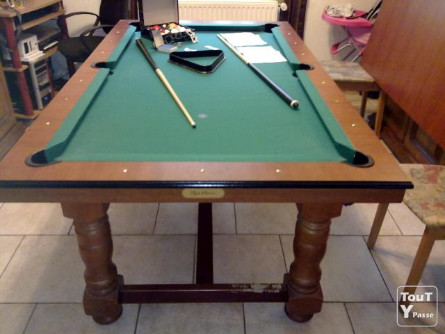 table a manger transformable billard americain leers 59115. Black Bedroom Furniture Sets. Home Design Ideas