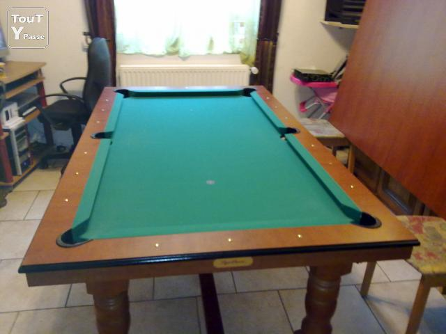 Table a manger transformable billard americain leers 59115 - Billard et table a manger ...
